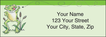 feelin' froggy address labels - click to preview