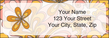 flower power address labels - click to preview