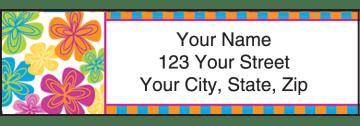 go-go retro address labels - click to preview