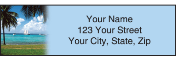 island escapes address labels - click to preview