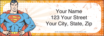 the justice league address labels - click to preview
