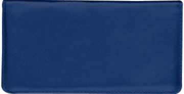 Navy Blue Side Tear Checkbook Cover – click to view product detail page