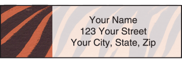 animal print address labels - click to preview
