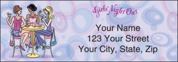 pampered girls address labels - click to preview
