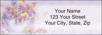 pansies address labels - click to preview