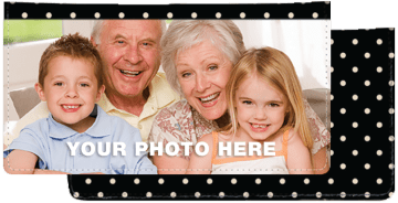 Polka Dots Photo Checkbook Cover – click to view product detail page