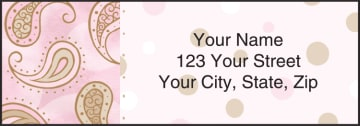 swirls and twirls address labels - click to preview