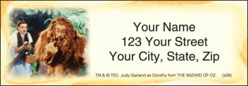 the wizard of oz address labels - click to preview