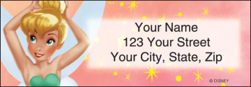 tinker bell address labels - click to preview