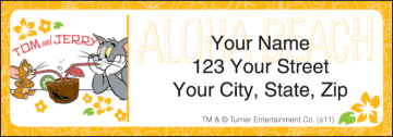 Tom & Jerry New Address Labels - click to view larger image
