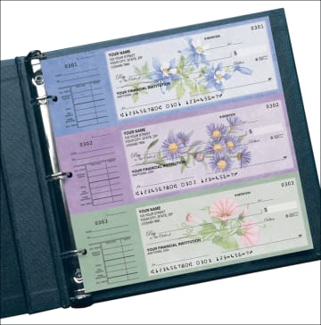 american wildflowers desk set checks - click to preview
