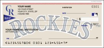 MLB - Colorado Rockies Checks – click to view product detail page