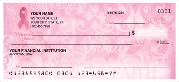 hope for the cure breast cancer awareness side tear checks - click to preview
