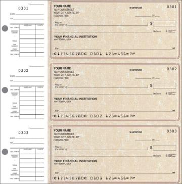 Parchment Desk Set Checks – click to view product detail page