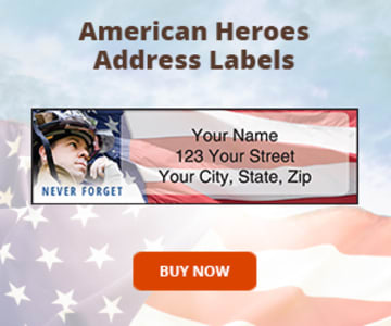 American Heroes Address Labels
