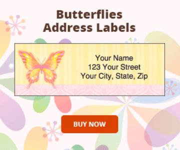 Butterflies Address Labels
