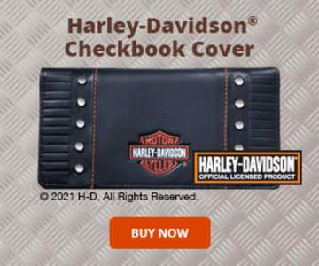 Harley-Davidson Checkbook Cover