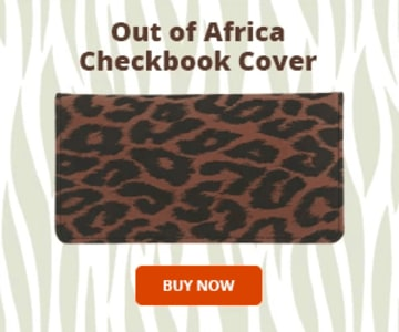 Animal Print Checkbook Cover