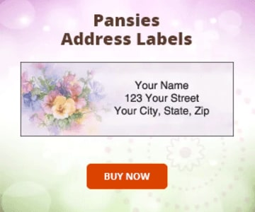 Pansies Address Labels