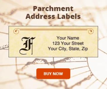 Parchment Monogram Address Labels