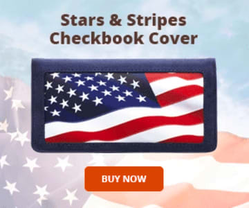 Stars and Stripes Side Tear Checkbook Cover