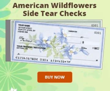 American Wildflowers Side Tear Checks