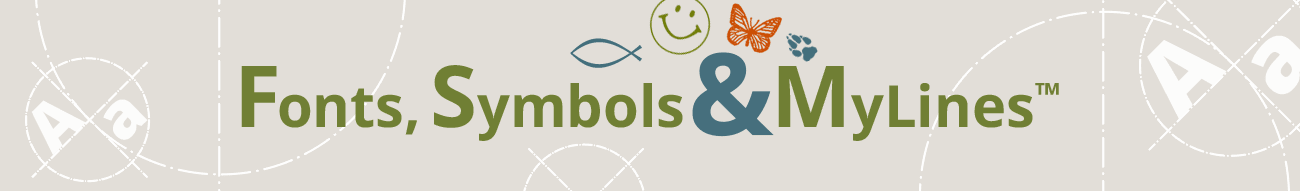 Fonts, Symbols, MyLines™