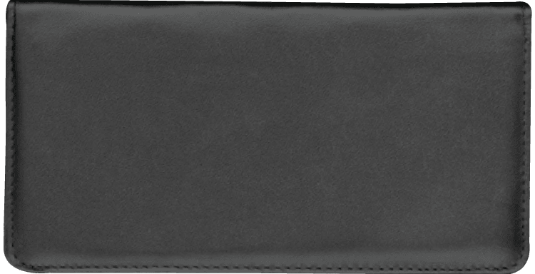 Black Checkbook Cover - click to view larger image