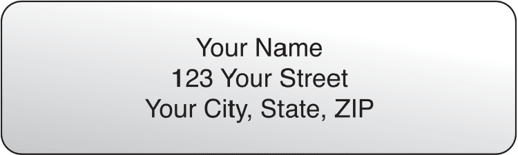 Clear Rolled Address Labels