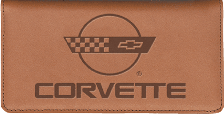 Corvette Checkbook Cover - click to view larger image