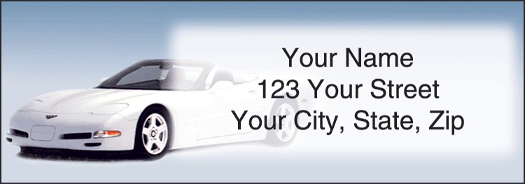 Corvette Address Labels - click to preview