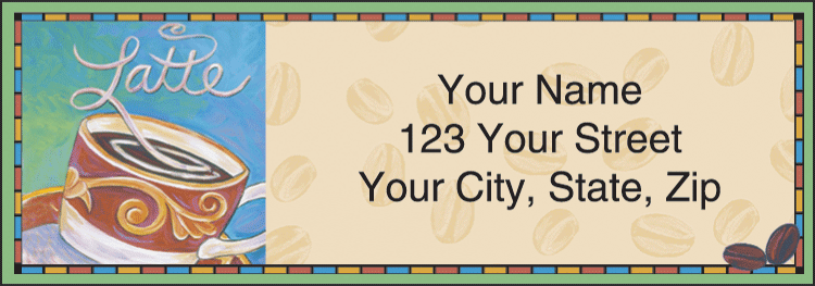 cup o' java address labels - click to preview