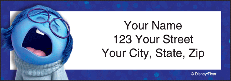 Disney/Pixar Inside Out Address Labels - click to preview
