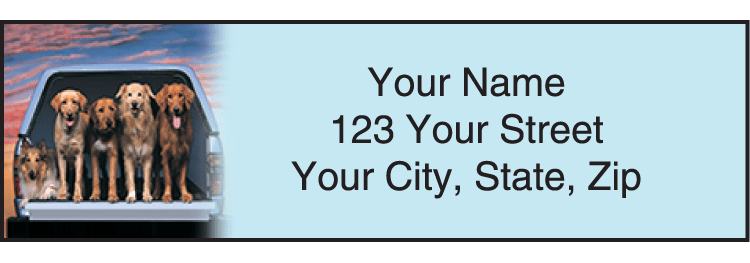 Dog Adventures Address Labels - click to view larger image