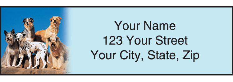 Dog Adventures Address Labels - click to preview