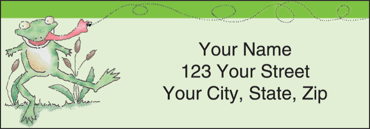 Feelin' Froggy Address Labels - click to view larger image