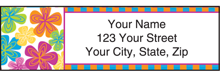 Go-Go Retro Address Labels - click to preview