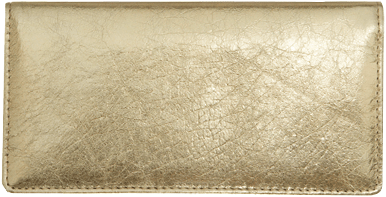 Enlarged view of Gold Metallic Checkbook Cover