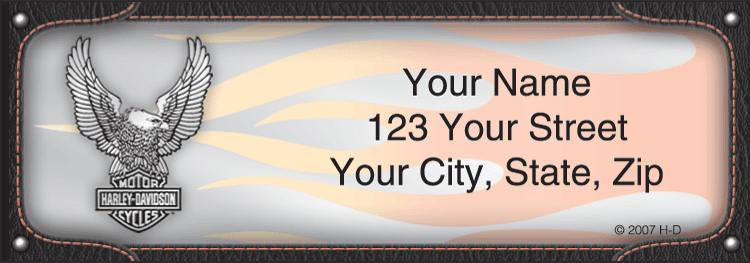 Harley-Davidson Address Labels - click to preview