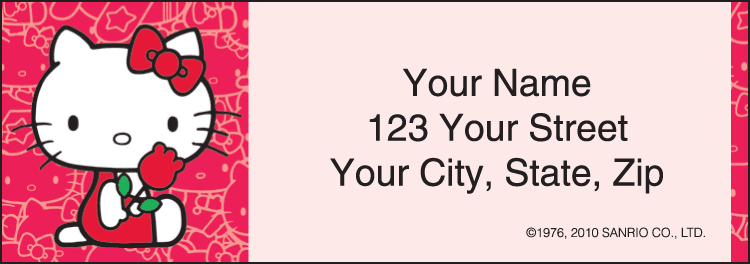 Hello Kitty Address Labels