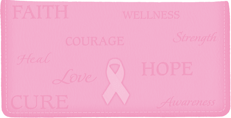 Enlarged view of Hope for the Cure Side Tear Checkbook Cover