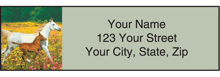 Horse Play Address Labels - click to view larger image