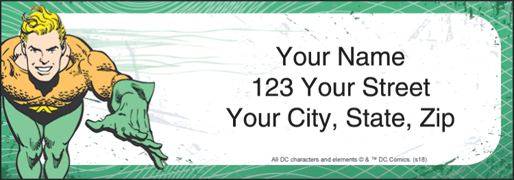 The Justice League Address Labels