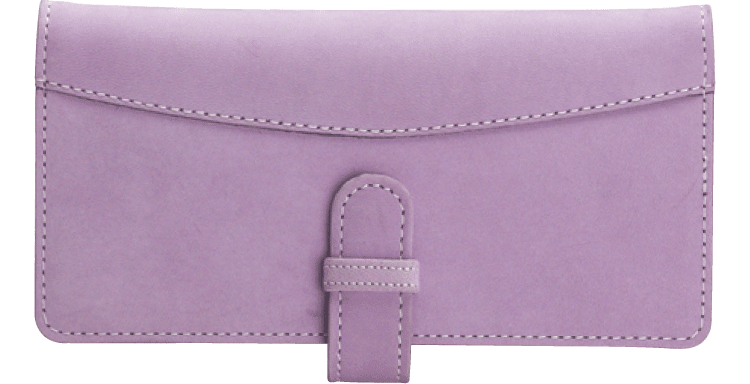 Lavender Checkbook Cover