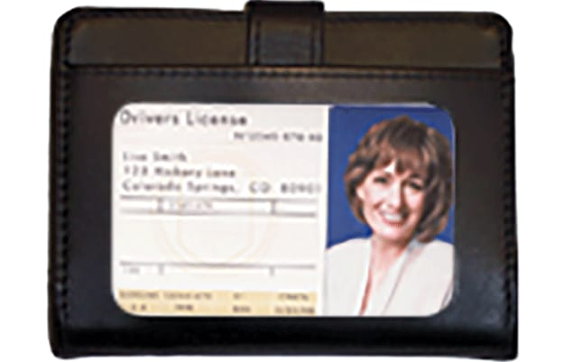 Black RFID Leather Debit Organizer