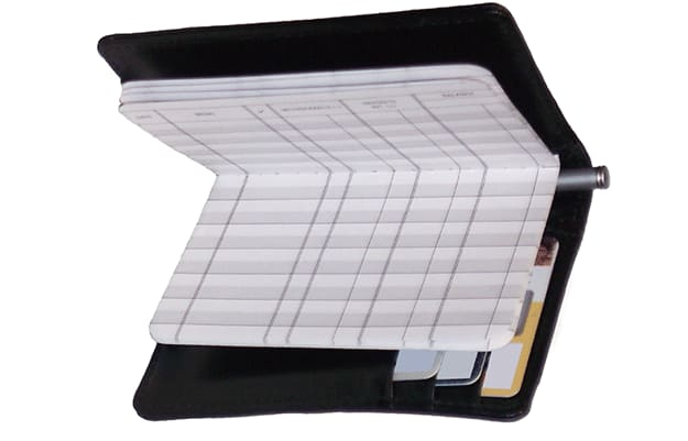 Black RFID Leather Debit Organizer - click to preview