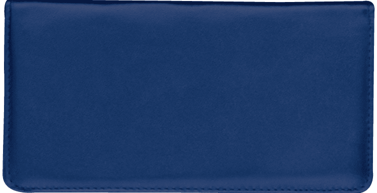 Navy Blue Checkbook Cover