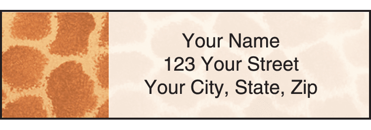 Animal Print Address Labels