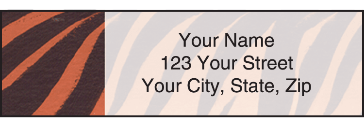 Enlarged view of Animal Print Address Labels