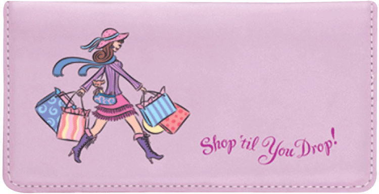 Pampered Girls Checkbook Cover - click to view larger image